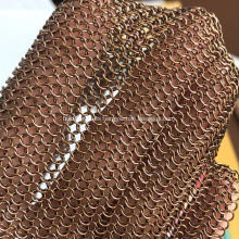 Anillo de metal decorativo de malla soldada de acero inoxidable anillo