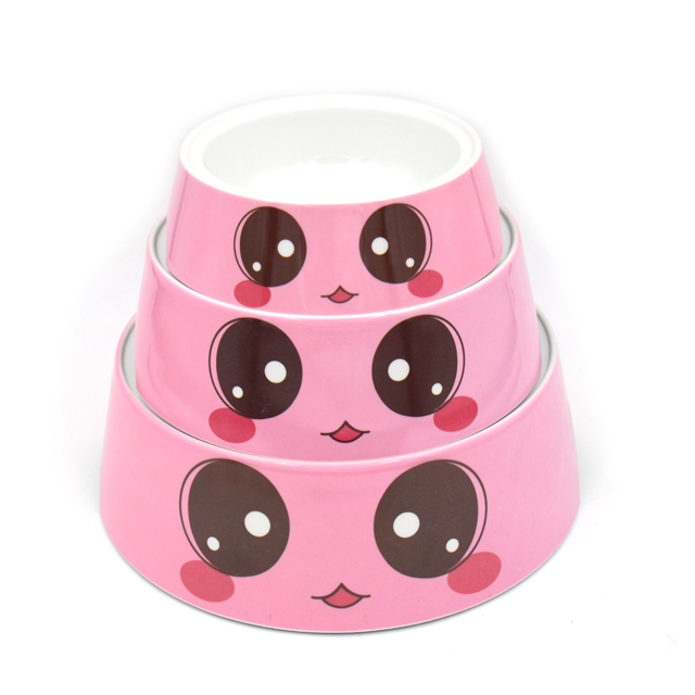 Melamine cute design pet dog cat feeder bowl