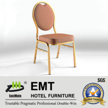 Concise Style Round Metal Wedding Banquet Chair (EMT-R38)