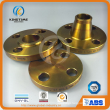 Carbon Steel Wn RF Flange Forged Flange with Yellow Coating (KT0017)