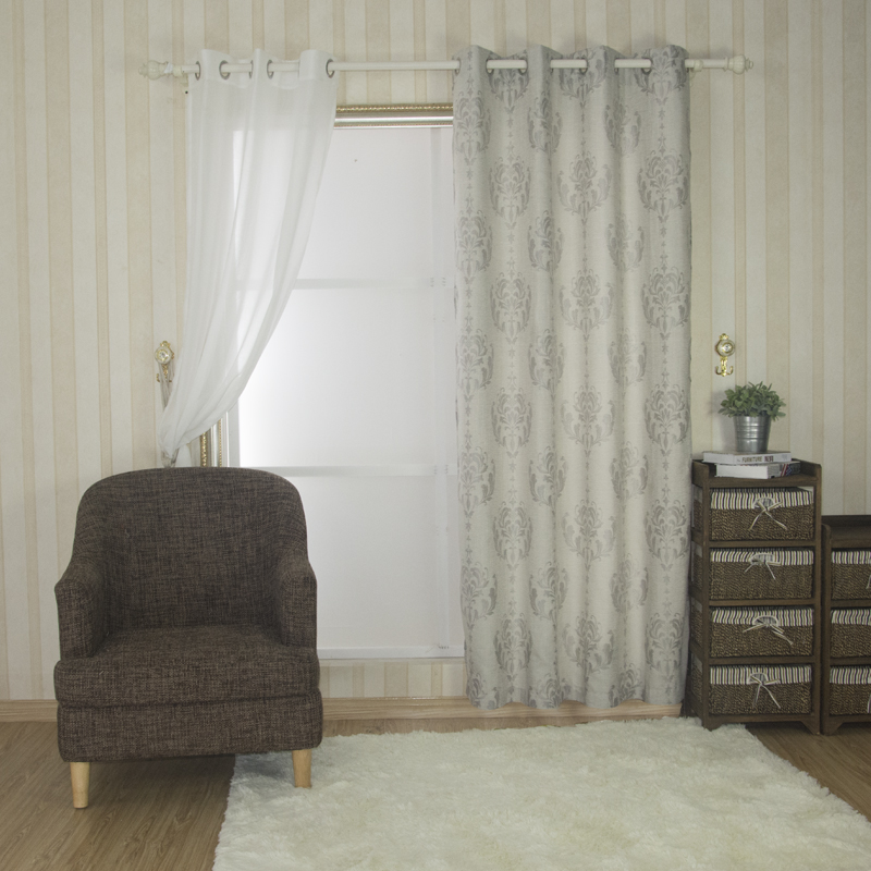 European Pattern polyester curtain fabric 6020#