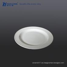17cm Toda la placa plana en blanco Personalizada inquebrantable vajilla de porcelana