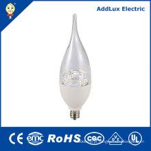 Luz de poupança de energia da vela do diodo emissor de luz de Dimmable 4.5W 7W E12