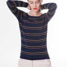 17PKCS208 2017 knit wool cashmere knitted lady sweater