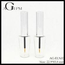 Plástico especial forma delineador tubo/Eyeliner recipiente AG-ELN02, embalagens de cosméticos do AGPM, cores/logotipo personalizado