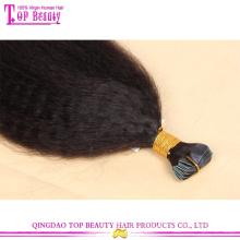 No atacado melhor qualidade yaki reta kinky fita remy indiano cabelo extensões do cabelo humano
