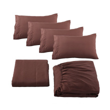 Different  Size  High Quality Home Collection 100% Cotton Bed Sheet Set With Fitted  Sheet Pillowcase