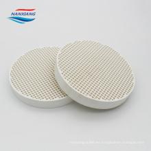Placa de cerámica a granel para gas gas