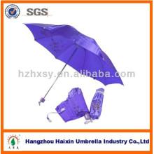3 Folding Satin Fabric Umbrella