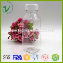 Zumo de fruta de embalaje vacía cuadrado PET botella de plástico 350ml jugo de Shenzhen proveedor
