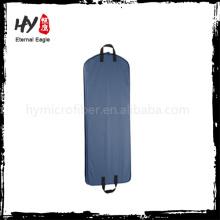 Bolso de alta calidad de la ropa del bolsillo de la cremallera, cubierta del traje, bolso negro no tejido de la ropa