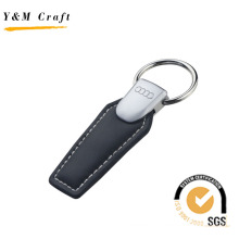 Promotional Metal Leather Key Chain Audi Car Key Ring (Y04032)