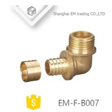 Encaixe de tubulação de cotovelo EM-F-B007 rosca macho conector de dentes