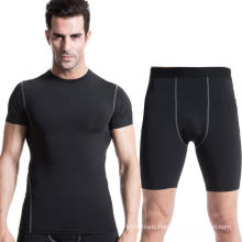 Men Workouts Clothing Short-Sleeve T-Shirt & Shorts Pants Fitness Sports Suit