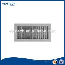 Doble deflexión rejilla para ventilación