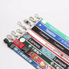 Cordão de pescoço personalizado de poliéster com gravatas impressas para brindes promocionais