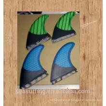 Aletas azuis da placa de surf do sistema de FCS de quilhas de prancha de / Aletas da placa de pá / aleta da ressaca com favo de mel três partes pelo grupo