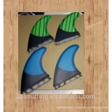Blue FCS System surfboard fins quilhas de prancha de /Paddle Board Fins/surf fin with honeycomb three pieces per set