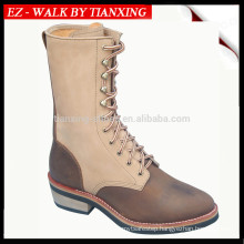 8 inch Genuine leather logger boots