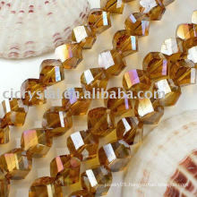2014 Faceted Crystal Twist Beads,glass glass bead