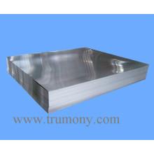 1100, 1050, 1060 Plain Aluminum / Aluminum Placa para la señal de tráfico con el final del molino
