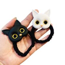 attache-cheveux elastico per cap Korean Cartoon Acrylic Cat Hair Tie Elastic Band Scrunchies for Girl Ponytail Head Rope Rubber Fashion Accessories Dropshipping