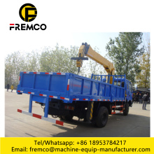 4x2 Folded Boom Truck with Crane 6 ton