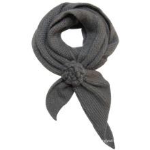 Frauen Mode Acryl Mohair gestrickt Floral Schal (YKY4184)