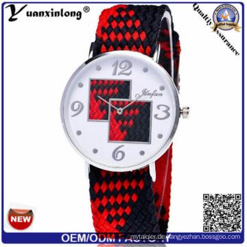 Yxl-208 2016 neue farbenfrohes Gewebe Uhren, Nylon Uhr Quarz Casual Sportuhr Damen
