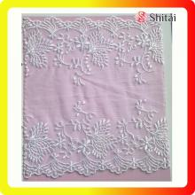 Customized Supplier for Net Lace Fabric White lace fabric for wedding garments export to Spain Wholesale