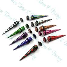Читер (подделка) конус уха растяжка расширитель Пирсинг комплект смешивать стили ювелирных изделий