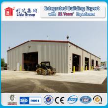 Entrepôt industriel de bâtiment de structure métallique de hangar à faible coût