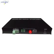 Conversor de vídeo óptico digital de fibra óptica de 8 canais