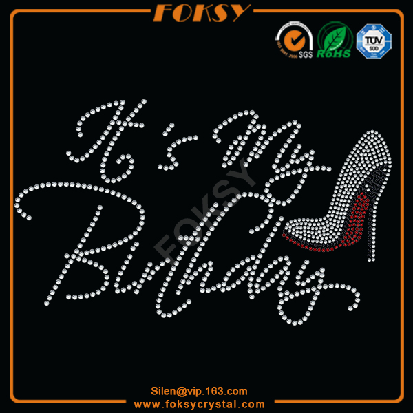 high heel rhinestone transfer