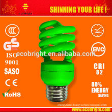 SKD colored T3 13W Half Spiral energy saving lamp 10000H CE QUALITY