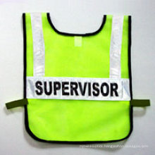 100% Polyester Knitting Fabric Safety Vest with Crystal Tape
