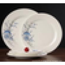 assiette en céramique de haute qualité avec un beau design