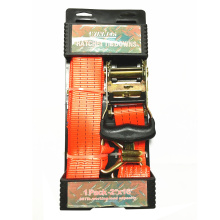 "2 ""2T Packaged Ratchet Tie Down Red Zurrgurt"