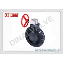 """Manual Handle Fiber Glass Reinforced Pp Butterfly Valve, Wafer Type, 1"""" To 8"""", Pn1.0mpa"""