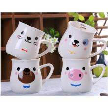 Handgemalte Werbung Keramik Tasse, kreative Becher Persönlichkeit Kaffeetasse.