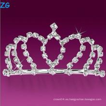 Lujosos peines de boda de cristal, peines de pelo barato, panetas de concurso para la princesa