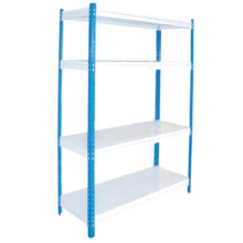Best selling flexible rivet slotted angle steel shelving/Boltless steel rack
