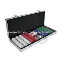 La viruta de póker 500PCS fijó en la caja de aluminio de la esquina cuadrada (SY-S27)