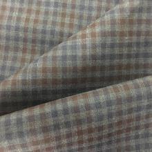 Check Pattern Jacket Wool Fabric