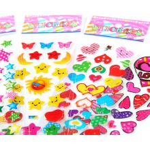 Kinder Cartoon Druck PVC Kinder Vinyl Aufkleber Benutzerdefinierte Förderung Geschenk Kinder Cartoon Puffy Aufkleber