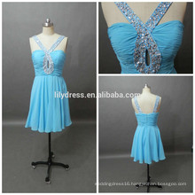 Formal Latest Designs Blue Sweetheart Neckline Custom Made Mini Cocktail Occasion Party CD073 chiffon dress patterns