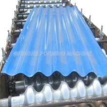 Máquina de fabricação de folhas de telhado de metal sinusoidal
