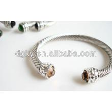 Brazaletes del rhinestone de los brazaletes del rhinestone del acero inoxidable brazaletes del rhinestone