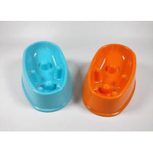 Slanted Non-Slide Slow Feed Dog Bowl