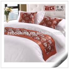 Hot Selling Hotel Rei Tamanho Decorativo Bed Runner Atacado